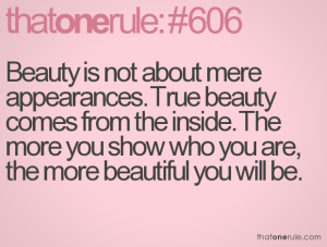 the importance of being beautiful